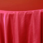 Rental Heavy Duty satin round tablecloth - Apple Red