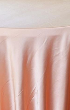 Heavy Duty Satin Round Tablecloth - Apricot-Peach