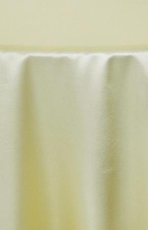 Rent Heavy Duty satin round tablecloth - Canary Yellow