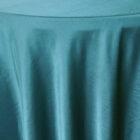 Rental Heavy Duty satin round tablecloth - Peacock