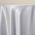 Rent satin round tablecloth-Platinum