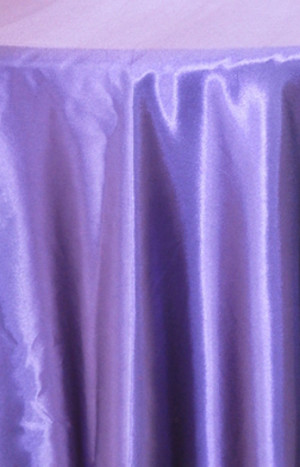 Rent satin round tablecloth- Regency