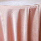 Rental Heavy Duty satin round tablecloth - Rose