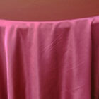 Rental Heavy Duty satin round tablecloth - Sangria