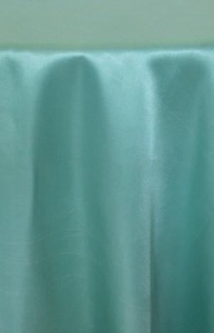 Rental Satin Round Tablecloth  Tiffany Blue   Aqua