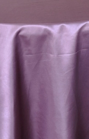 Charmant Rental Heavy Duty Satin Round Tablecloth   Wisteria