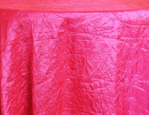 Rental Table Linen Crushed Taffeta Round Tablecloth U2013 Fuchsia