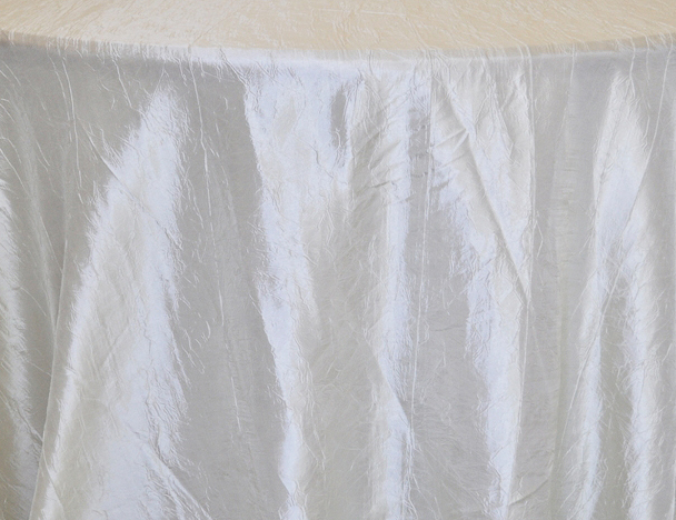 Rental Table Linen Crushed Taffeta Round Tablecloth U2013 Ivory