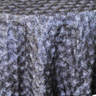 Rental Table Linen Round Satin Rosette Tablecloth - Pewter