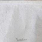 Rental Table Napkin Crushed Taffeta - White