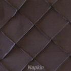 Rental Table Napkin Pintuck Taffeta - Black