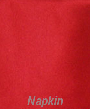 Rental Table Napkins Satin - Apple Red