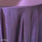 Rental Table Overlay Satin Square - Eggplant