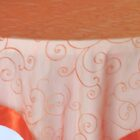 Rental Table Overlay Topper Embroidered Organza - Orange