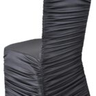 Rouge Spandex Chair Covers - Black