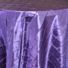 Rental Round Pintuck Taffeta Tablecloth - Regency