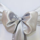 Rental Chair Sashes Satin - Platinum