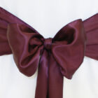Rental Chair Sashes Satin - Plum