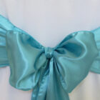 Rental Chair Sashes Satin - Pool Blue