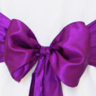 Rental Chair Sashes Satin - Purple