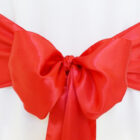 Rental Chair Sashes Satin - Red
