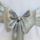 Rental Chair Sashes Satin - Silver