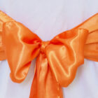 Rental Chair Sashes Satin - Tangerine