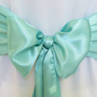 Rental Chair Sashes Satin - Tiffany Blue - Aqua