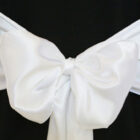 Rental Chair Sashes Satin - White