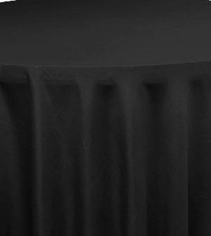 Polyester 120 Round Tablecloth - Black