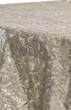 Round Tablecloth Diamond Glitz Sequins 132 - Champagne