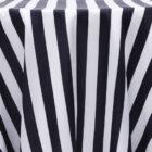 Stripe 132 Satin Round Tablecloth - Black and White