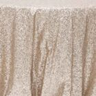 Tablecloth Linen Glitz Sequins Round 132 - Blush