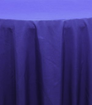 Tablecloth Linen Polyester Round 120 - Royal Blue