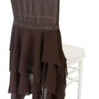 Rental Chiffon Chiavari Chair Covers - Chocolate