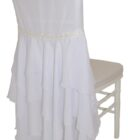 Rental Chiffon Chiavari chair covers White