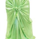 Rental Chair Cover Satin Universal Self Tie - Apple Green