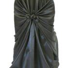 Rental Chair Cover Satin Universal Self Tie - Black