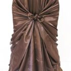 Rental Chair Cover Satin Universal Self Tie - Chocolate