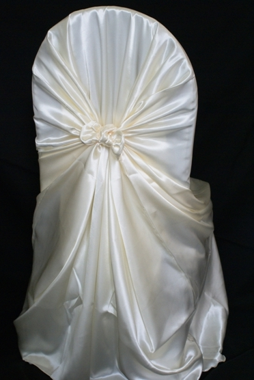 rental chair covers satin universal self tie ivory a particular