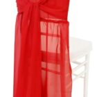 Rental Chair Cover Chiffon Chiavari With Sash - Apple Red