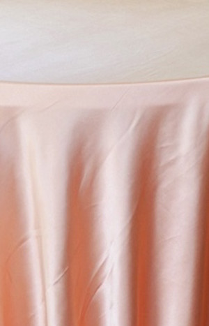 Heavy Duty Satin Round Tablecloth - Apricot-Peach