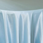 Rental Heavy Duty satin round tablecloth - Baby Blue