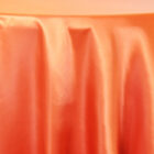 Rental satin round tablecloth - Orange