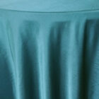 Rental Heavy Duty satin round tablecloth - Peacock