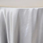 Rental Heavy Duty satin round tablecloth - Silver