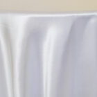 Rental Heavy Duty satin round tablecloth - White