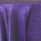 Rental Table Linen Crushed Taffeta Round Tablecloth - Eggplant