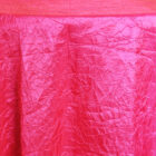 Rental Table Linen Crushed Taffeta Round Tablecloth - Fuchsia