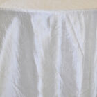 Rental Table Linen Crushed Taffeta Round Tablecloth - Ivory